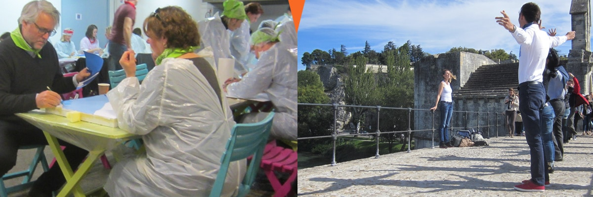 team building artistique et créatif sur Avignon